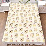 iPrint Bed Skirt Dust Ruffle Bed Wrap 3D Print,Dots Agriculture Farm Animal Country Life Inspired,Fashion Personality Customization adds Color to Your Bedroom. by 90.5''x96.5''