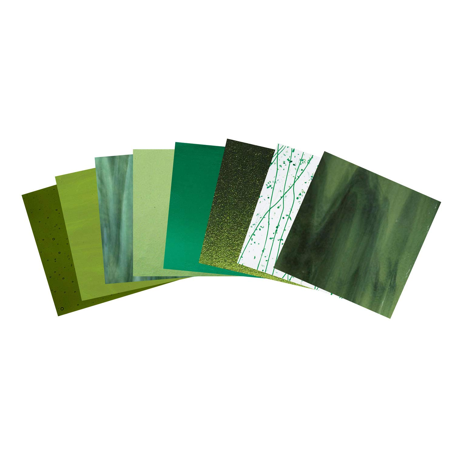 Bullseye It's Easy Being Green Fusible Glass Pack - 90 Coe
