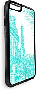 Abstract drawing of Paris in different colors Printed Case for iPhone 6 Plus