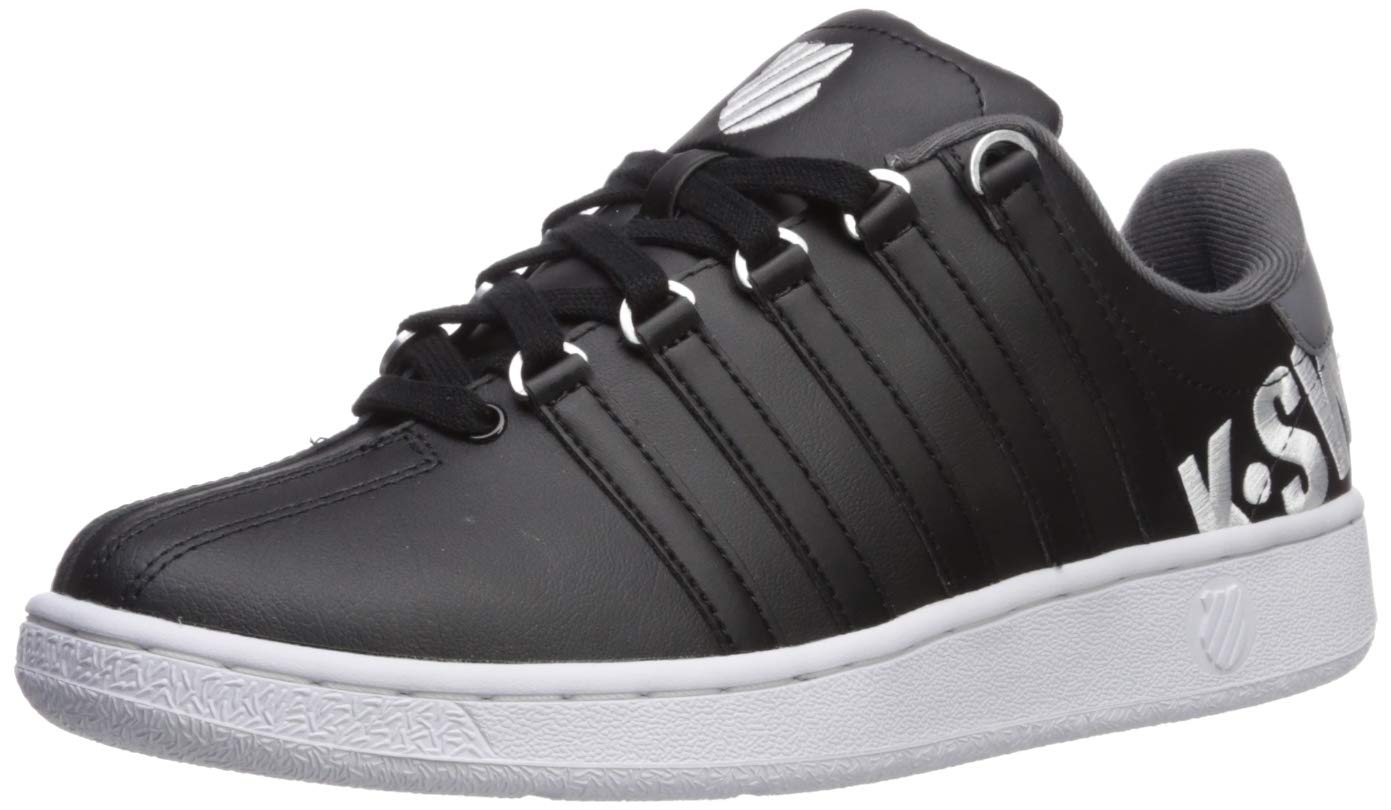 K-Swiss Men's Classic VN XL Sneaker, Black/White/Charcoal, 7 M US by K-Swiss