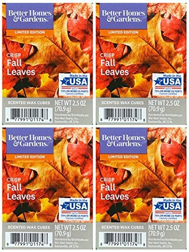 Better Homes and Gardens Crisp Fall Leaves Wax Cubes - 4-Pack from Better Homes & Gardens