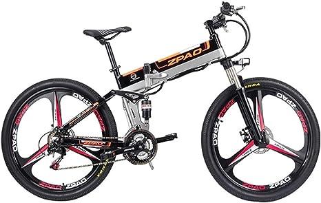 BNMZXNN Bicicleta eléctrica Plegable de 26 Pulgadas, Bicicleta de ...