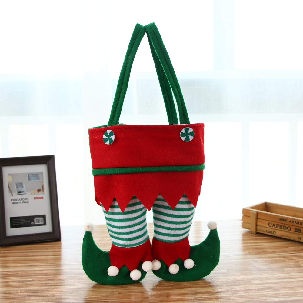 Clearance Tuscom Christmas Stockings Socks New Christmas Eve Christmas Gift Bag,Children Storage Bag,26x 22cm for Festivals, Parties Decoration (B)