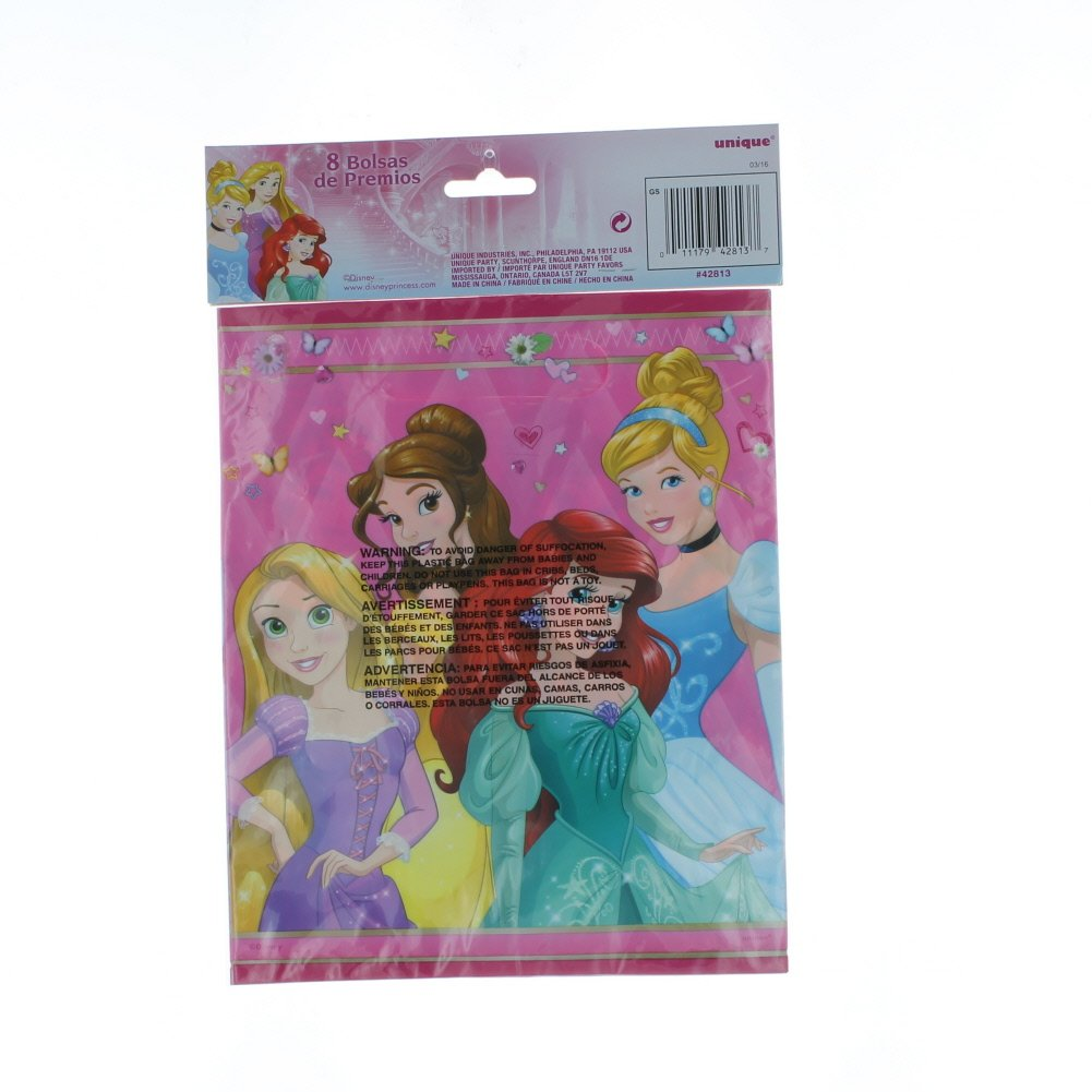 Amazon.com: Disney Princess 8 Count Plastic Loot Bags Paper ...