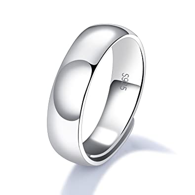 925 Sterling Silver Wedding Anniversary Promise Ring For Men High