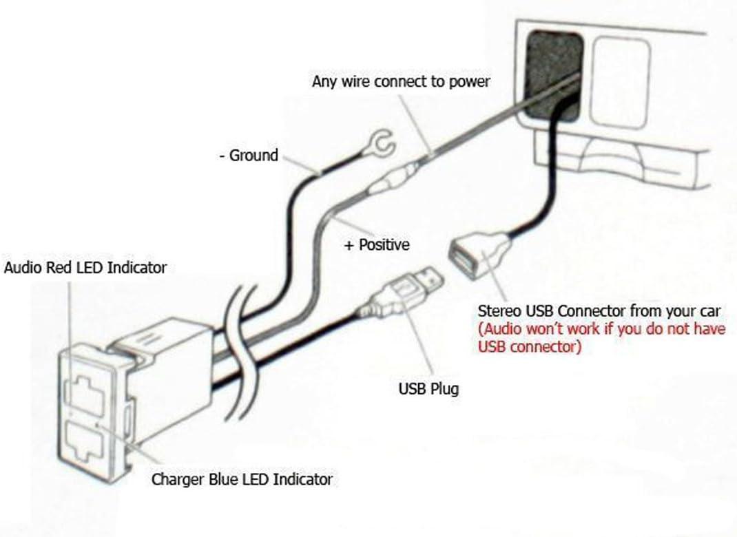Amazon.com: Car USB Socket Port with Audio Socket for Nissan Series -  MOTONG Car USB Power Socket Port for iPhone X/8/7/6/5 [ 778 x 1085 Pixel ]