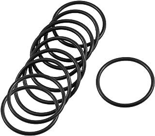 10 pezzi, 36 mm x 2,4 mm, colore: Nero, anelli in Silicone per guarnizioni Guarnizione olio