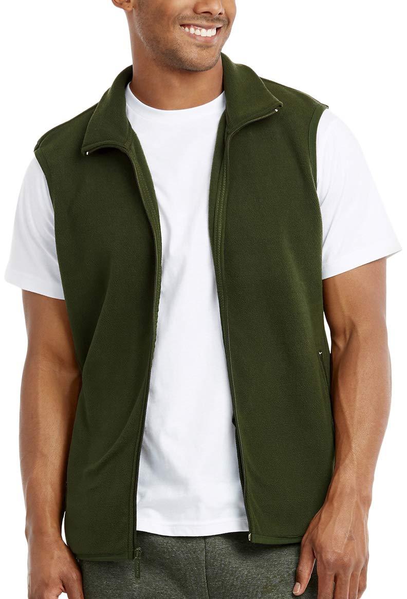 ToBeInStyle Men's Zip Up Sleeveless High Collar Polar Fleece Vest