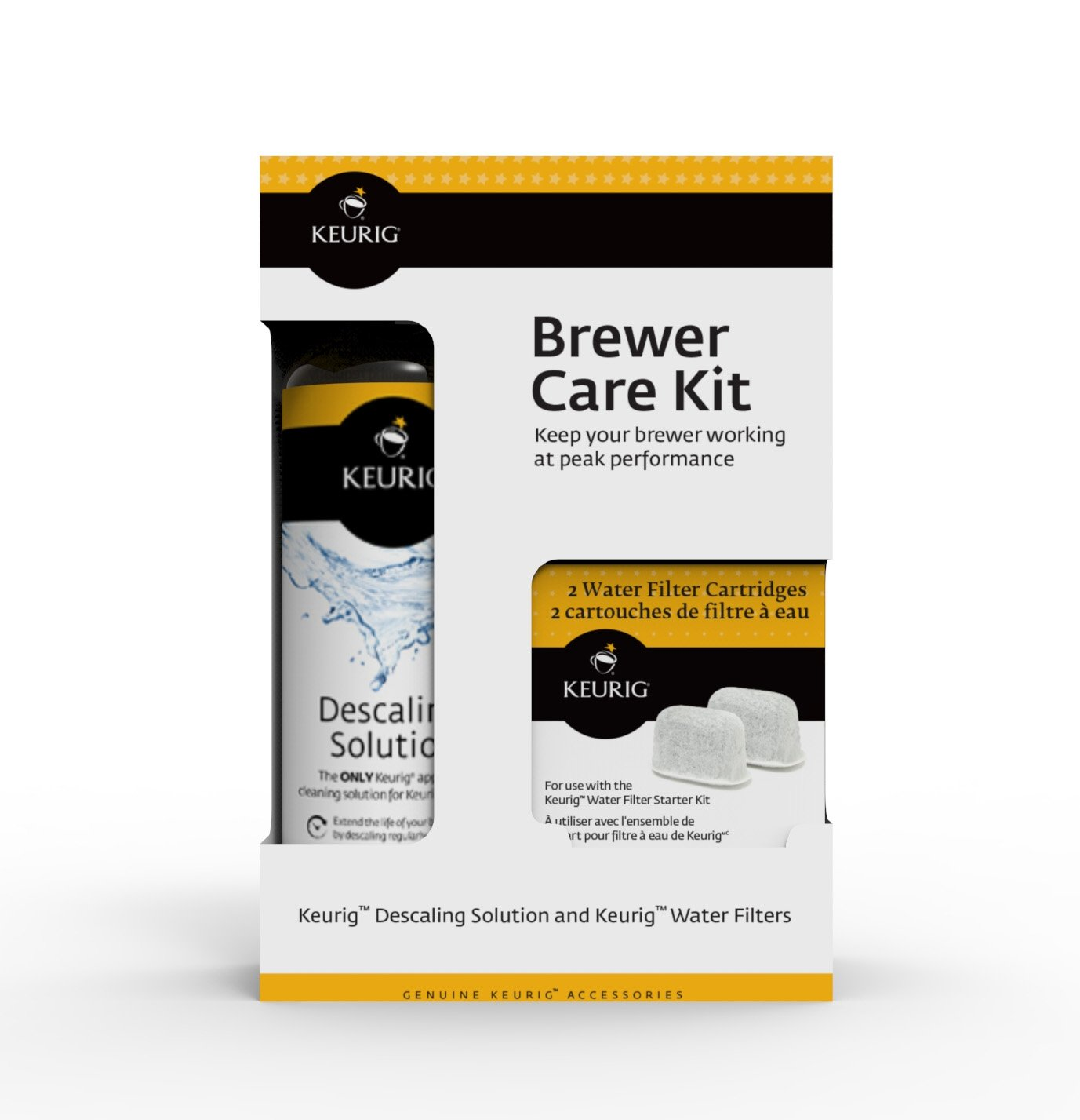 Keurig Brewer Care Kit with Descaling Solution and 2 Water Filter Cartridges, Compatible With All Keurig 2.0 and 1.0 K-Cup Pod Coffee Makers by Keurig (Image #3)