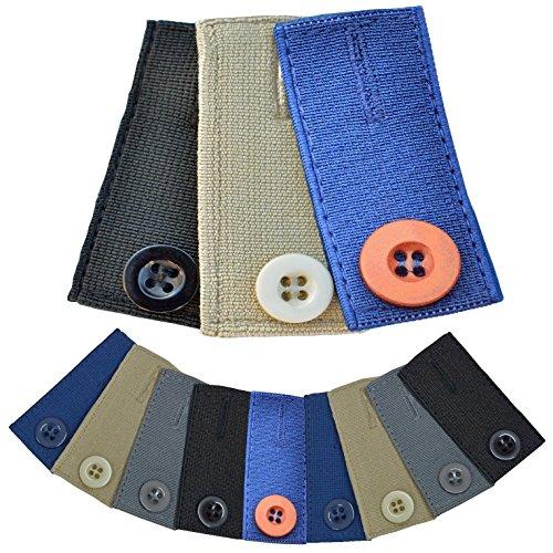 Medipaq–Falda Pantalones o Jeans botón Cintura extensores x3Pack