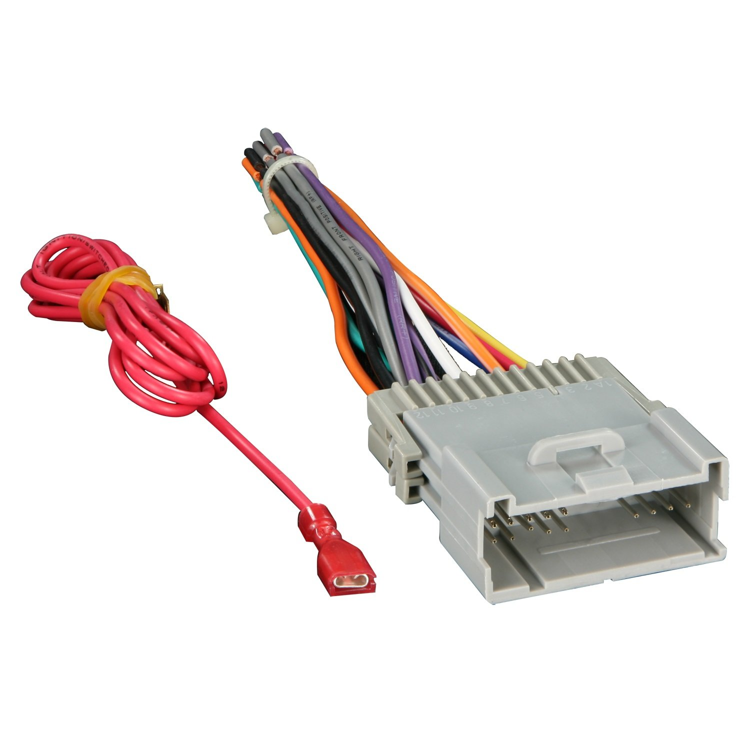 61eewxp9orL._SL1500_ amazon com metra 70 2003 radio wiring harness for gm 98 08 how to connect wiring harness to aftermarket stereo at gsmx.co