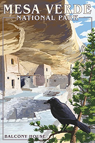 Mesa Verde National Park, Colorado - Balcony House (12x18 Signed Print Master Art Print w/Certificate of Authenticity - Wall Decor Travel ()
