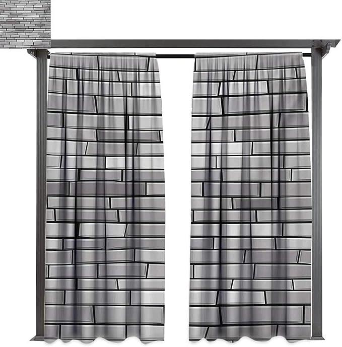 bybyhome Cortina de puerta para exteriores, diseño moderno y ...