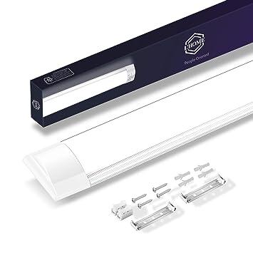 LHome Pantalla Carcasa Tubo led integrado 18w 60cm,pantallas led techo garaje a