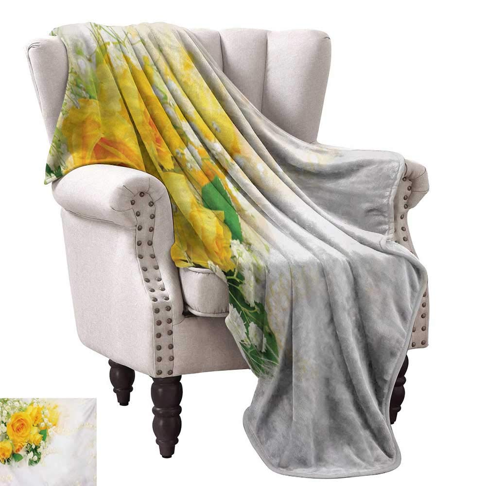 color07 60 Wx60 L WinfreyDecor Yellow Decorative Throw Blanket Bursting Vibrant Hanging Stars Fun Retro Kids with Graphic Design Artistic Print All Season Light Weight Living Room 60  Wx60 L White Yellow