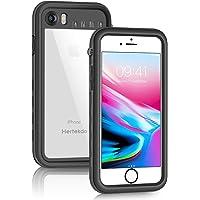 Hertekdo Funda Impermeable para iPhone 7/8, Funda Sumergible IP68 CertifiedCubierta sellada Funda Impermeable a Prueba de Golpes con Soporte de pie para Buceo, esquí y natación (i7/8 4.7)