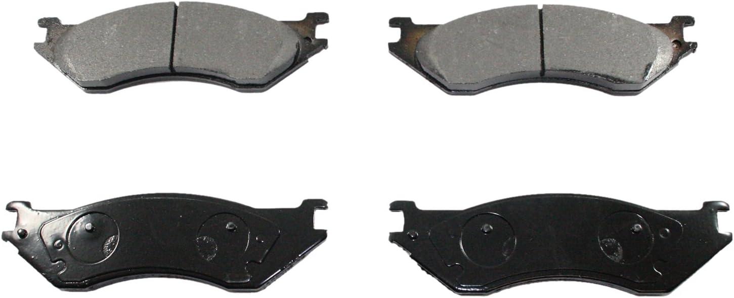 DuraGo BP376 MS Front Semi-Metallic Brake Pad