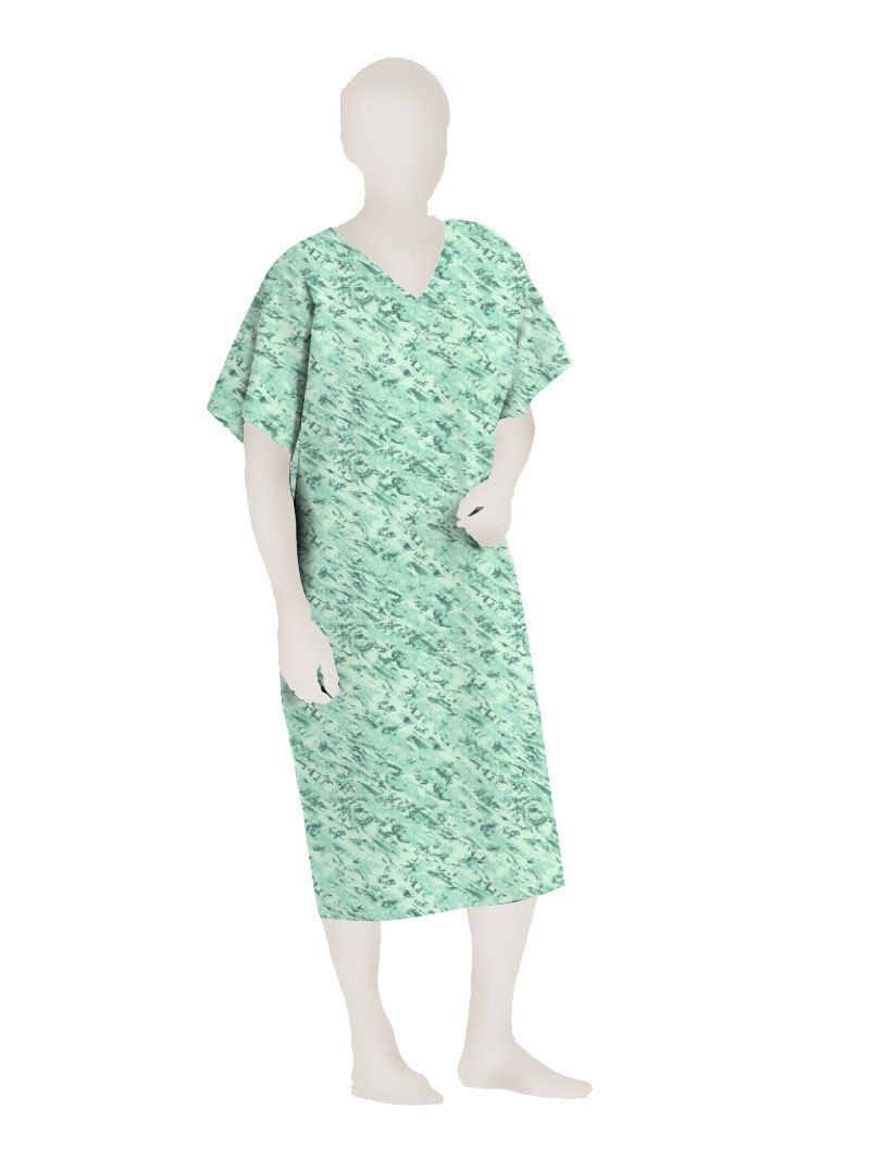 POLYESTER I.V. GOWN (3X, Green)