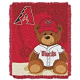 MLB Arizona Diamondbacks Field Woven Jacquard Baby Throw Blanket, 36x46-Inch