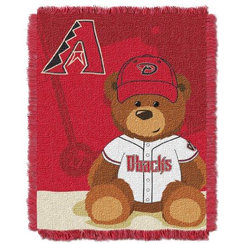 The Northwest Company MLB Arizona Diamondbacks Field Bear Woven Jacquard Baby Throw, 36