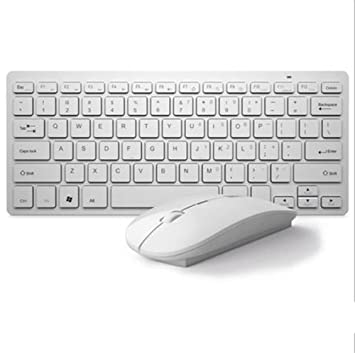 toma USB del ordenador portátil teclado inalámbrico externo sin cables mini teclado Bluetooth teclado inalámbrico / ratón conjunto , white: Amazon.es: ...