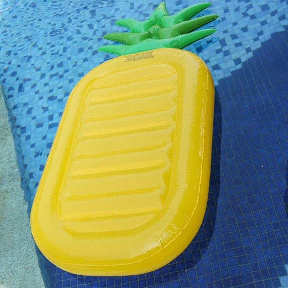 boby Inflable Piscina Flotador Gigante Colchoneta Hinchable Piscina Juguete para Adultos Rectangular Pi/ña 196 x 86 x 16 Cent/ímetros