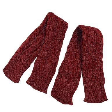 4b7359e2d7fa Ourlove Fashion - Ensemble bonnet, écharpe et gants - Femme - Rouge - Taille  unique