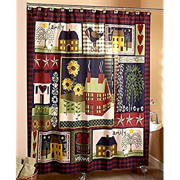 80OFF The Lakeside Collection Outhouse Shower Curtain