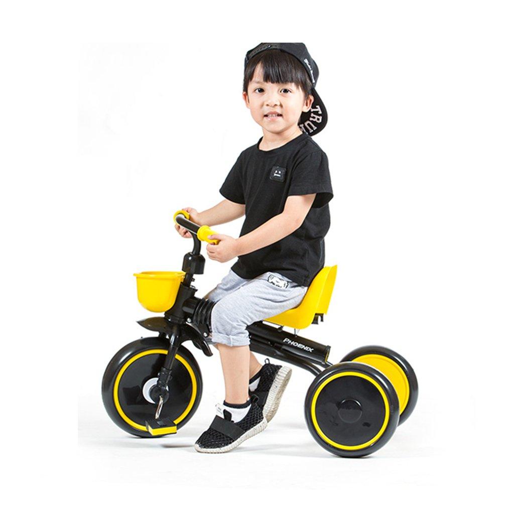 Kinderfahrräder Einräder Kinder Dreirad 1-3 Jahre alt Faltbare Tragbare Babyfahrrad Kinderwagen Kinderwagen (Farbe   schwarz, Größe   79  50  39cm)