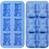 Thumbs up Jelly Bear Shot - Silikon Form - Blau