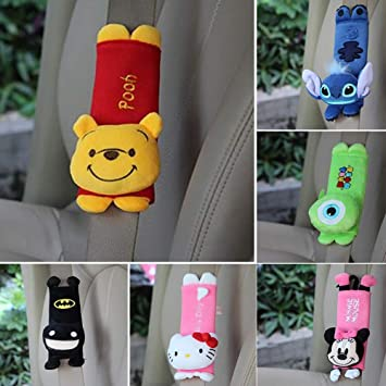UWOOD Baby Child Kids 2 Pcs Stroller Cartoon Animal Safety Seat Belt Cover Protection Car Seats Strap Shoulder Pad Cushion Soft Accessories A