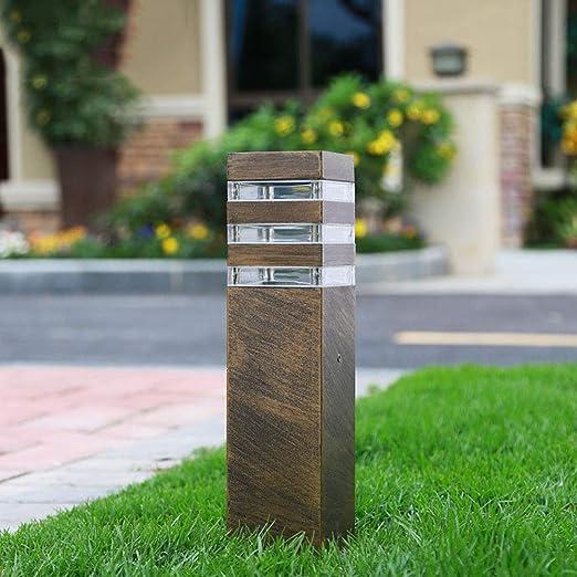 Diseño de lámpara exterior Lámpara exterior Lámpara camino Lámpara de jardín exterior Lámpara de pedestal aluminio alta calidad Iluminación de calle Lámpara de césped Lámpara, 9 * 13 * 40CM: Amazon.es: Iluminación