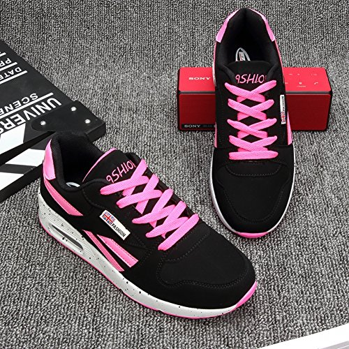 Femme Inconnu Basse Course Sport 40 Baskets Mode Sneakers Fushia Fitness Noir Chaussure Rond Air Gym Outdoor Plat gIq5wq