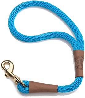 product image for Mendota Pet Traffic Leash - Short Dog Lead - Made in The USA - Blue, 1/2 in x 16 in