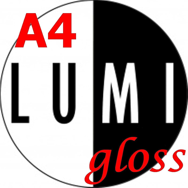 50feuilles 200g/m² A4Lumi brillant 2faces papier pour imprimante laser–Photo/dépliants