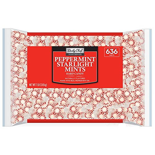 Daily Chef Peppermint Starlight Mints 636 Mints - 7 lbs.