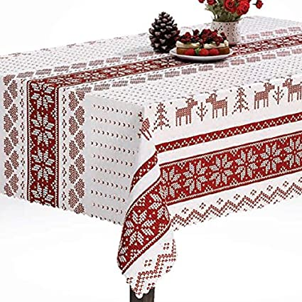 The Tablecloth Shop Scandinavian Christmas Wipe Clean Vinyl