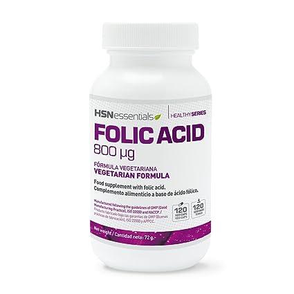 Ácido Fólico (Vitamina B9) de HSN Essentials - 800mg- Vitaminas y minerales prenatales