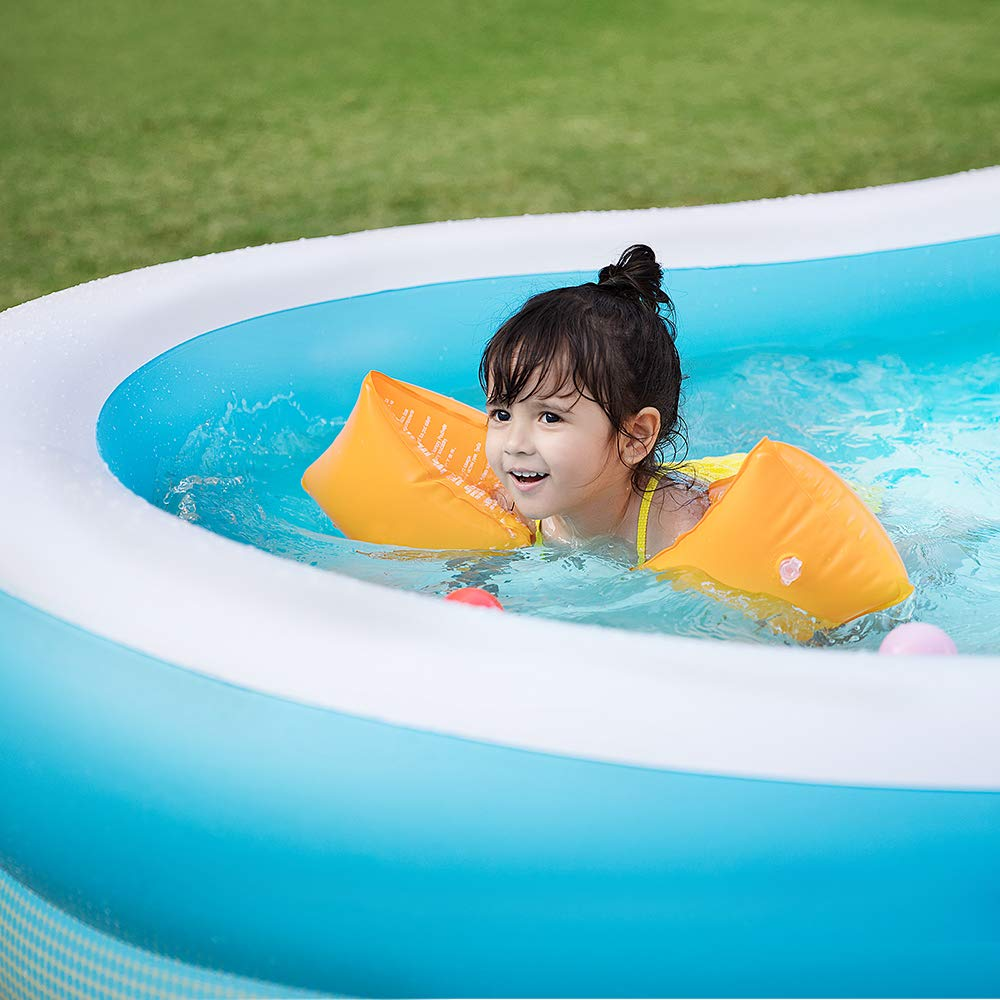 Sable Inflatable Pool, Swimming Family Size Kiddie Blow Up Pool, 103 x 63 x 18 in, Easy Set Up, for Ages 3+ by Sable (Image #7)