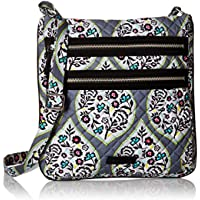 Deals on Vera Bradley Heritage Leaf Iconic Triple-Zip Hipster Crossbody
