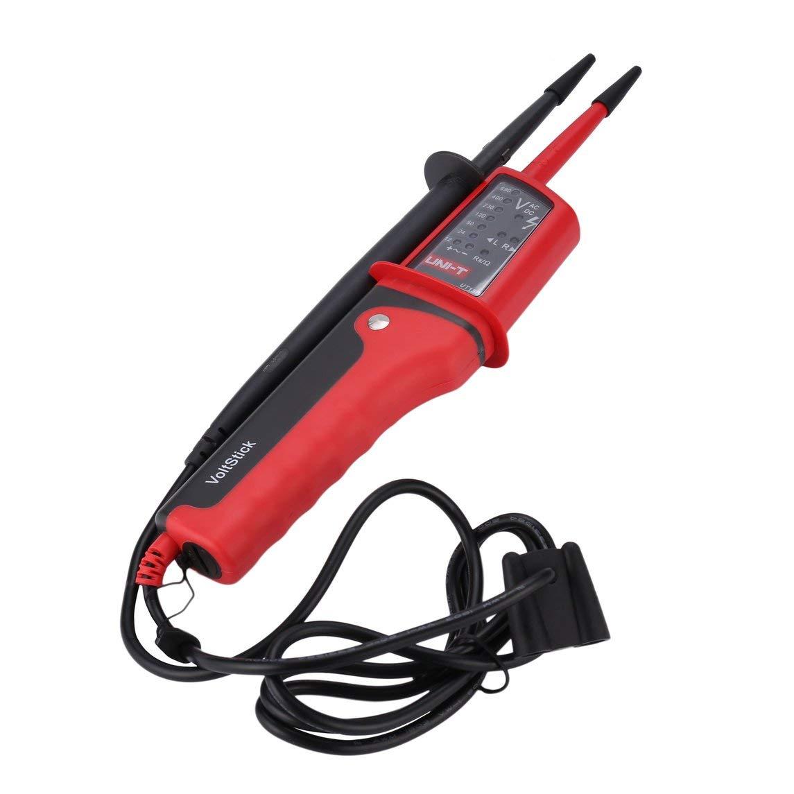 Footprintse UNI-T Digitale Elettrica AC DC Volt Tester Penna Mini Voltage Multimetro Palmare Impermeabile Multitester Tester Voltmetro-colore: rosso e grigio