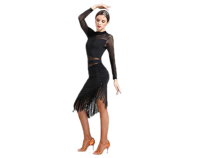 Amazon.com: Full Niza de la mujer latina Tassel Fringe Salsa ...