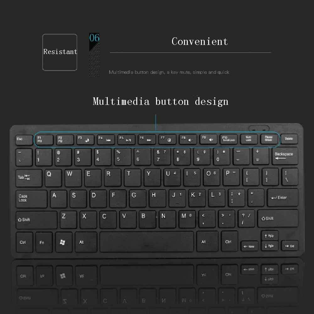 HKJCC Desktop Laptop Wired USB Chocolate Mini Slim Mute