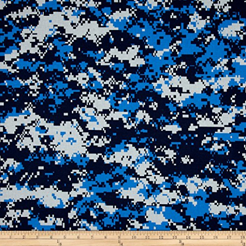 Urban Camouflage Blue Fabric By The - Camouflage Fabric Blue
