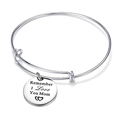 165c4a6e91550 Crescent Moon Bracelet Bangle for Women Crystal Moon Engraved Disc Coin  Inspirational Bracelet Stainless Steel Girls Jewelry