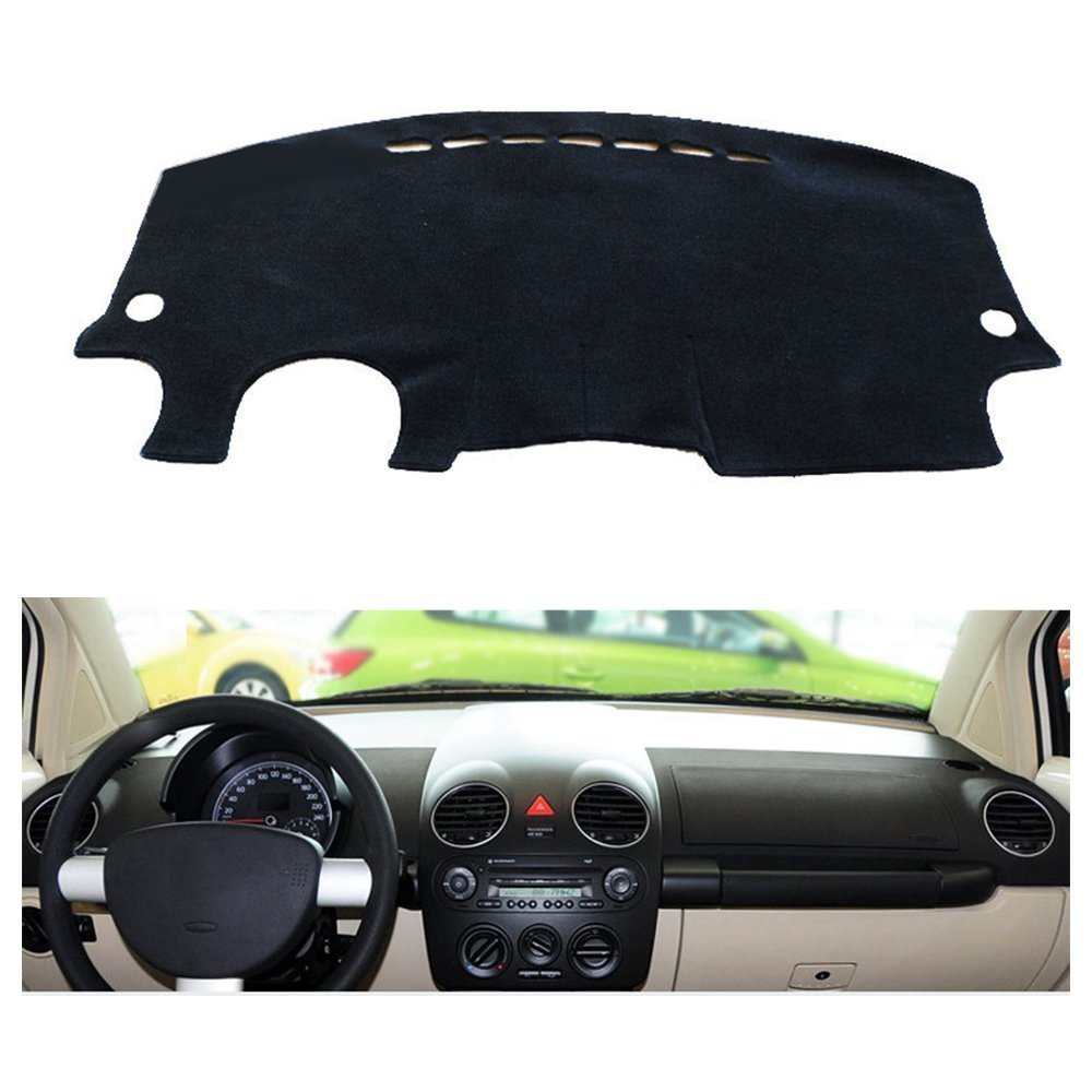 Fly5d Dashboard Cover Dash Mat Pad Dashmat For 2010 Vw New Beetle Door Wiring Harness 1998 Volkswagen Year Black Automotive