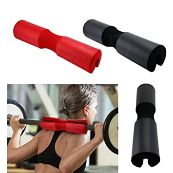 Amazon.com : Barbell Pad Black Weightlifting Hip Bridge Fitness Barbell Cover Professional Protector For Neck & Shoulders Thick Foam Cushion for Exercise ...