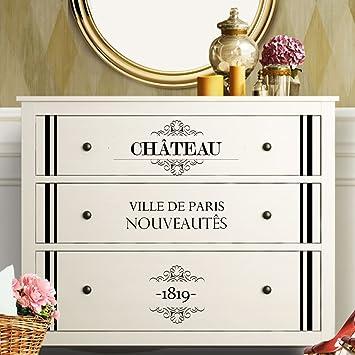 Grandora W5224 Wandtattoo Vintage Stil 2 I Weiss I Passend Fur Ikea