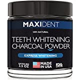 Teeth Whitening Activated Charcoal Powder - Extra Big Jar - Made in USA - Natural Safe Tooth Whitener - Premium Non Abrasive Coconut Charcoal -No Need For Strips, Kit, Gel, Whitening Toothpaste & Pen