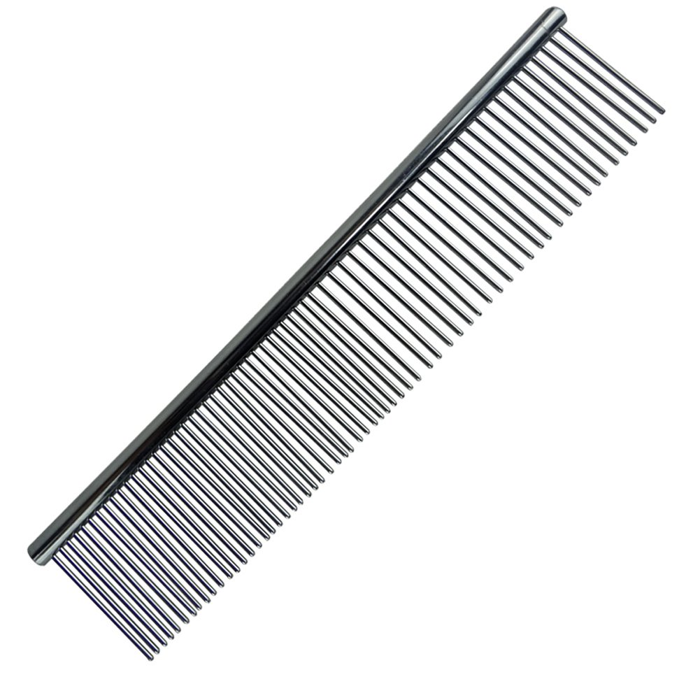 OCSOSO pack of 3 7.5 inches Stainless Steel Pet Comb for Dog Cat